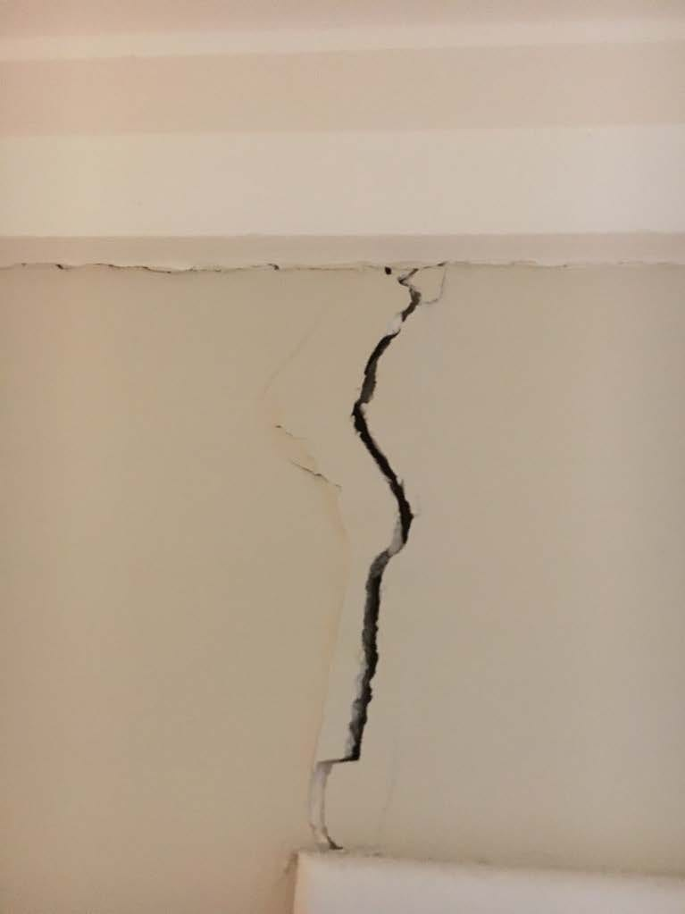 Significant vertical wall crack