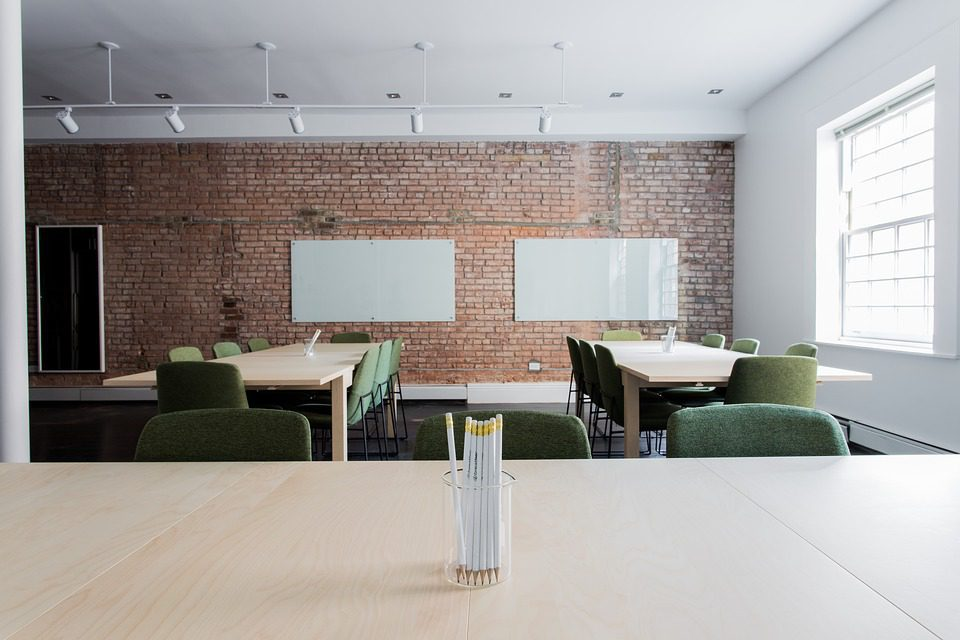 What are the benefits of a split system in the office?